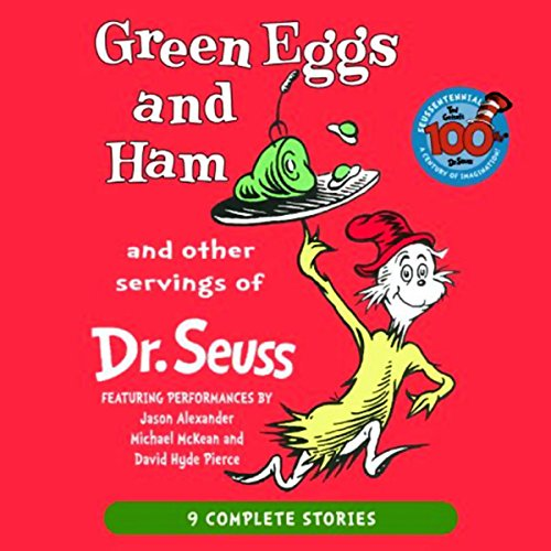 Green Eggs and Ham and Other Servings of Dr. Seuss                   By:                                                                                                                                 Dr. Seuss                               Narrated by:                                                                                                                                 Jason Alexander,                                                                                        Michael McKean,                                                                                        David Hyde Pierce                      Length: 52 mins     5 ratings     Overall 3.4