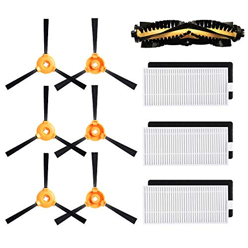 Alonyi Replacement Parts for DEEBOT N79S N79 500 DN622 Main Brush, Filter, Side Brush Accessory Kit for Ecovacs DEEBOT Robotic Vacuum Cleaner