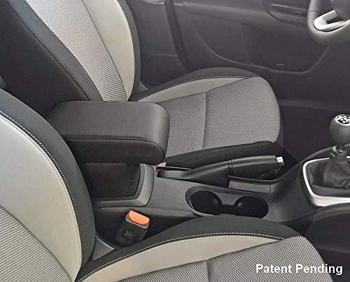 Drive Design Bracciolo Premium per Tipo in Ecopelle Nero Regolabile in Lunghezza