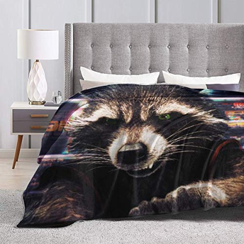 Rocket Raccoon Guardians Of The Galaxy Throw Fleece Blanket
