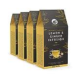 Marca Amazon - Happy Belly Select - Bolsitas de té de hierbas selecto con limón y jengibre, 4x15 pirámides