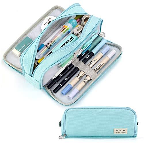 CICIMELON Pencil Case Large Capacity Pencil Pouch 3 Compartments...