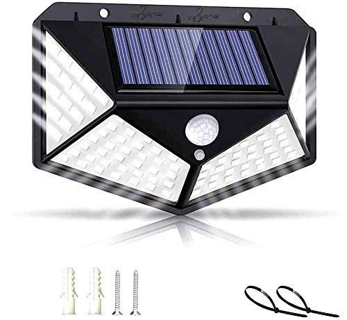 Luce Solare led Esterno 2200mAh【super luminoso】Lampade Solari Sensore di Movimento 270° Illuminazione Luci Esterno 3 Modalità Lampada Solare Impermeabile