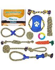 Nobleza – Pack de 10 Juguetes para Perro. Set Fabricado en Cuerda para morder. Especial para el Cuidado Dental