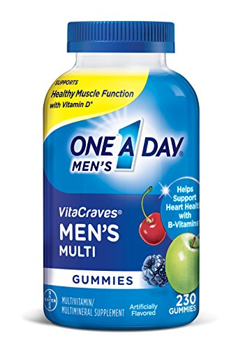 One A Day Men's VitaCraves Multivitamin Gummies, 230 Count (Pack of 1)