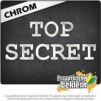 トップシークレット Top Secret 20cm x 9cm 15色 - ネオン+クロム! ステッカービニールオートバイ