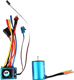 oil-LIKIO Waterproof 3650 3900KV/ 4300KV Brushless Motor+60A Brushless ESC for 1/10 RC Car Boat Crawler (3900KV)