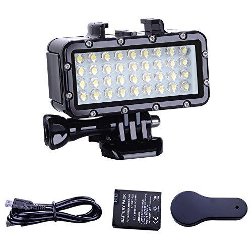 Suptig Licht Tauchen Licht High Power Dimmbare Wasserdichte LED Video Licht Füllen Nachtlicht Tauchen Unterwasser Licht Wasserdicht 147ft (45m) für Gopro SJCAM YI Action Kamera