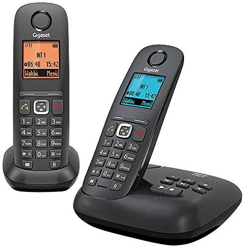 Gigaset A540 A Duo Dect-Schnurlostelefon mit Anrufbeantworter, incl. 1 zusätzlichen Mobilteil, anthrazit/schwarz