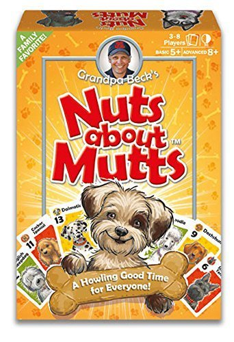 Grandpa Beck's Nuts About Mutts Card Game - A Fun Family-Friendly Hand-Elimination Game - Enjoyed by Kids, Teens, and Adults - from The Creators of Cover Your Assets - Ideal for 3-8 Players Ages 5+