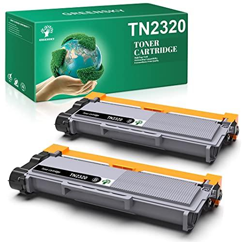 GREENSKY Kompatibel Tonerkartusche als Ersatz für Brother TN-2320 für DCP-L2500D DCP-L2520DW DCP-L2540DN MFC-L2700DW MFC-L2700DN MFC-L2720DW MFC-L2740DW HL-L2340DW HL-L2300D (Schwarz, 2 Pack)