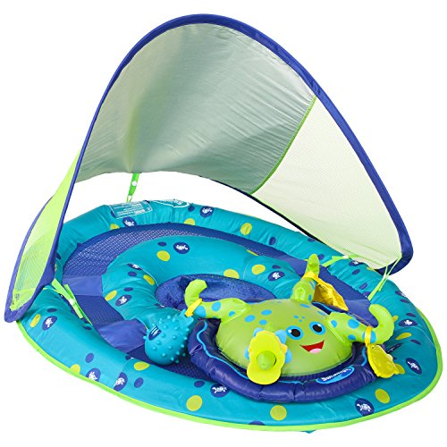 SwimWays Baby Spring Float Activity Center with Canopy - Inflatable Float for...