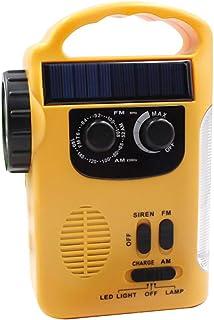 Goofly Multiple Use Solar Powered Hand Radio 5LED Flashlight 8LED Reading Light USB Charging Emergency Charger Emergency A...