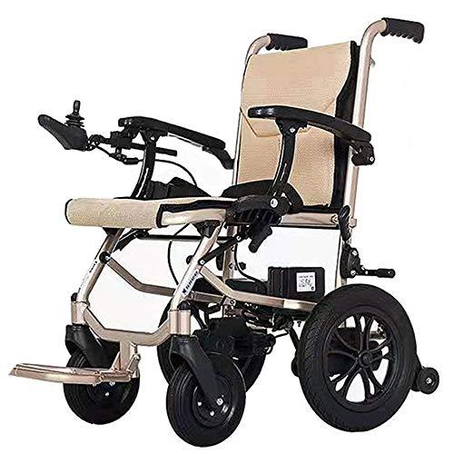 AMITD Elektro-Rollstuhl Klapprollstuhl Elektrisch Leicht Zusammenklappbar Vollautomatischer Elektrischer Rollstuhl Faltbar - Elektrorollstuhl Li-Ion-Akku Für Die Wohnung, 2 Lithiumbatterien