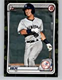 2020 Bowman Prospects Camo #BP-139 Anthony Volpe RC Rookie New York Yankees MLB Baseball Trading Card. rookie card picture