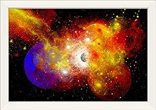 CANVAS ON DEMAND A Dying Star Turns nova as it Blows Itself Apart White Framed Art Print, 27