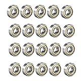 Schneespitze 20 Piezas 685ZZ Rodamientos Rigidos A Bolas,Odamientos Miniatura De Bolas Mini Bearing,De Lamina De Rodamientos,5 X 11 X 5mm