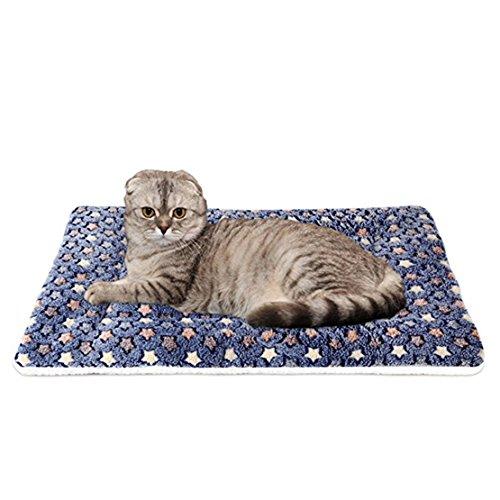 WYSBAOSHU Warm Hundedecke bunter Stern Hund Katze Mat (XL, Dunkelblau)