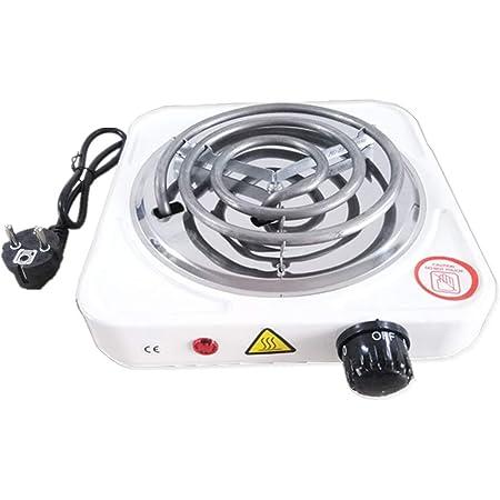KitaBulb Hornilla Blanca de la Placa Caliente del Encendedor eléctrico del carbón de la cachimba 1000W para el carbón Natural de la cachimba del carbón de leña