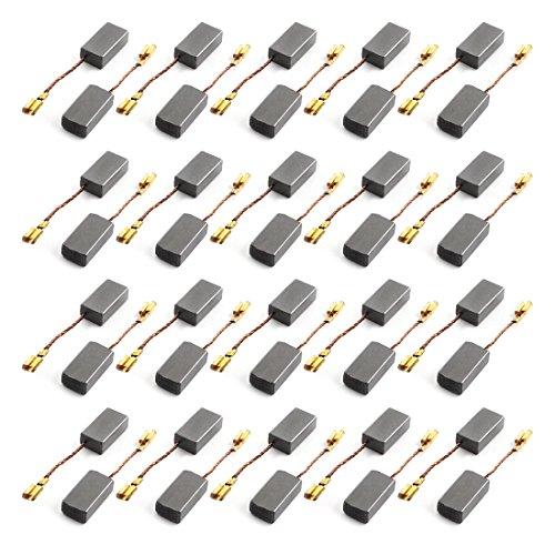 sourcingmap 40 pcs de escobilla de carbón para el motor eléctrico Sustitución 15mm x 8mm x 5mm