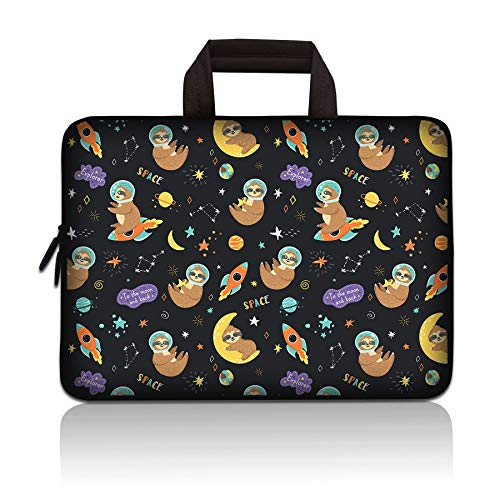 11 11.6 12 12.1 12.5 inch Laptop Carrying Bag Chromebook Case Notebook Ultrabook Bag Tablet Cover Neoprene Sleeve for Apple MacBook Air Samsung Google Acer HP DELL Lenovo Asus (Cute Sloth)