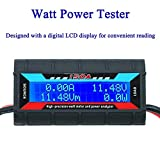 ARCELI 150A Watt Meter Power Analyzer High Precision RC with Digital LCD Screen for voltage (V) current (A) Power (W) Charge(Ah) and Energy (Wh) Measurement