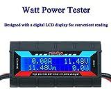 ARCELI Analizzatore di Potenza del misuratore di Potenza 150A RC di Alta precisione con Schermo LCD Digitale per Tensione (V) (A) Potenza (W) Misurazione di Carica (Ah) e energia (Wh)