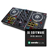 Numark Party Mix | Beginners DJ Controller for Serato DJ Intro With 2 Channels, Built In Audio Interface With Headphone Output, Pad Performance Controls, Crossfader, Jogwheels and Light Display