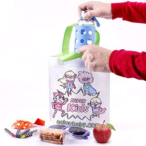 25 Bolsas para Colorear + 1 Bolsa Reutilizable | 25 Bolsas Individuales con 5 Ceras de Colores y Globo | Regalo niños Fiestas y cumpleaños