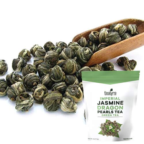 Tealyra - Imperial Jasmine Dragon Pearls - Loose Leaf Green Tea - Jasmine Green Tea with Pleasant Aroma and Tonic Effect - 113g (4-ounce)