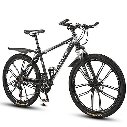 YXY Bicicleta de montaña, Bicicleta compacta, 21/24/27 velocidades de Bicicletas portátiles, para Hombres, Mujeres, Adultos, jóvenes, Estudiante Masculino Bicicleta Plegable Bicicleta portabicicleta