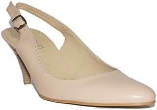 e1b657c8 Flex Technology - HRD Tacón Fino Zapatos Mujer Tacón Medio Piel Fino Fiesta  Vestir Elegante Confort