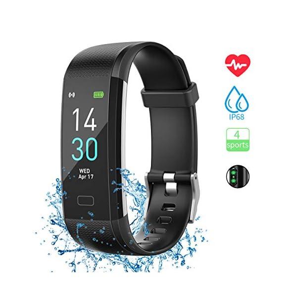 Pulsera de Actividad, Inteligente Reloj Deportivo, IP68 para Hombre Mujer con GPS Monitor de Sueño Podómetro Contador… 1