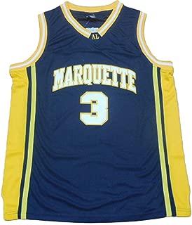 Men's Marquette Collegiate Athletic #3 Retro Embroidered Basketball Jersey