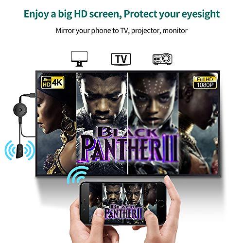 Wireless HDMI Dongle 4K HDR, MPIO WiFi HDMI Dongle Streaming für iPhone/iPad/Android/iOS/Window/Mac OS Laptop, Tablet, PC zu HDTV/Monitor/Projektor (unterstützt Miracast, DLNA, Airplay)