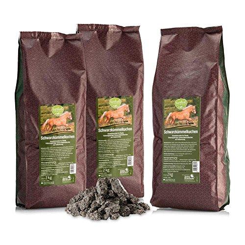 tierlieb Schwarzkümmel-Kuchen, Einzelfuttermittel für Pferde 3 x 2 kg