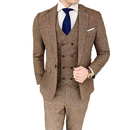 Hopereo Nueva lana espiga de espiga Slim Fit formal trajes de boda para hombre 2021 traje Mariage Homme conjunto de 3 piezas Blazer&Chaleco & Pantalones hechos a medida