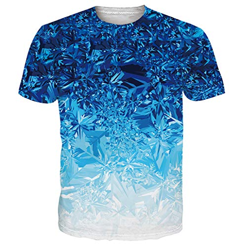 uideazone T-Shirt Sommer Casual Kurzarm Shirt Crew Tees Top T Shirt Herren Weiß Shirts Tops