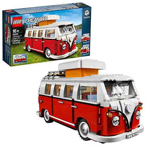 LEGO Creator Expert-Furgoneta Volkswagen T1, Juguete de construcción de Camper Van Blanca y roja (10220)