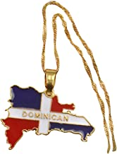 AccessCube Unisex Country Map Flag Pendant Necklace Gold Silver Color Charm Maps Jewelry