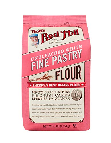 Bobs Red Mill Flour, White Pastry Unbleached, 5Pound