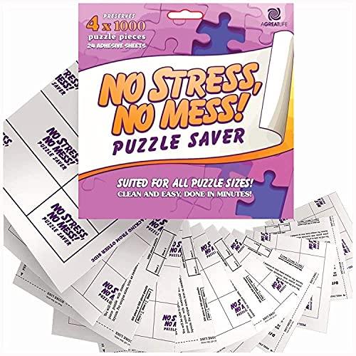 Super Puzzlekleber im Vorratspack (24er) - Extra Starke Klebefolien - Leidenschaftlich am Puzzlen? Abziehen, Bombenfest für 4000er Puzzle