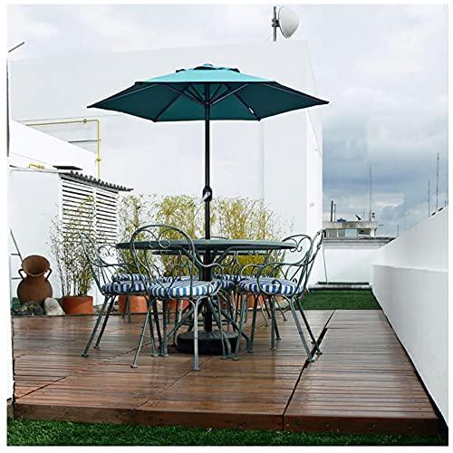 Y&J Sombrilla Jardin Exterior Grande 2 M, Parasol Terraza con Manivela, Sombrillas Playa Plegable, Protección Solar, para Balcón, Piscina, Bar