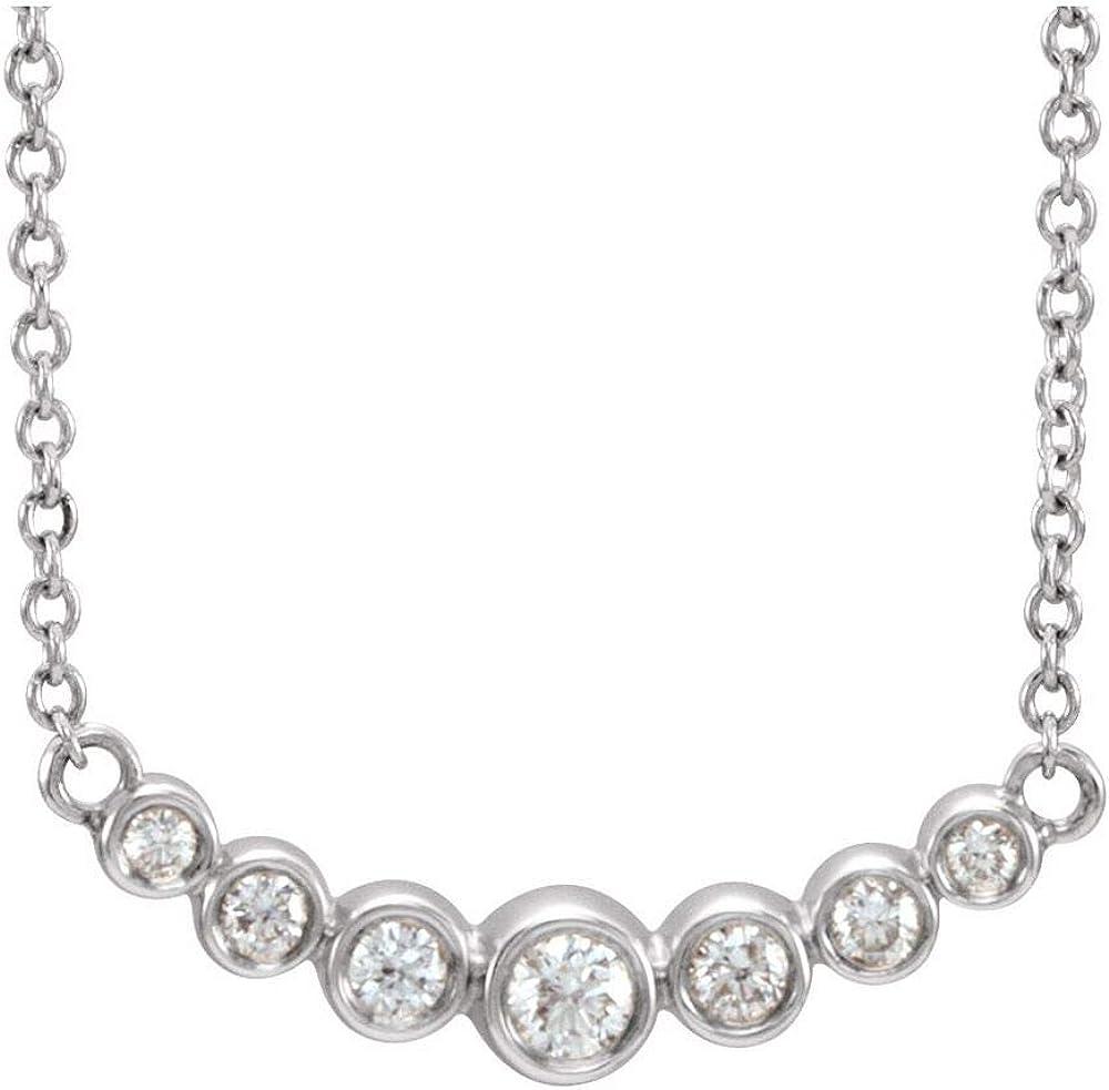 1 5 Cttw Diamond Bargain Charm Max 52% OFF Pendant to Adjustable 16