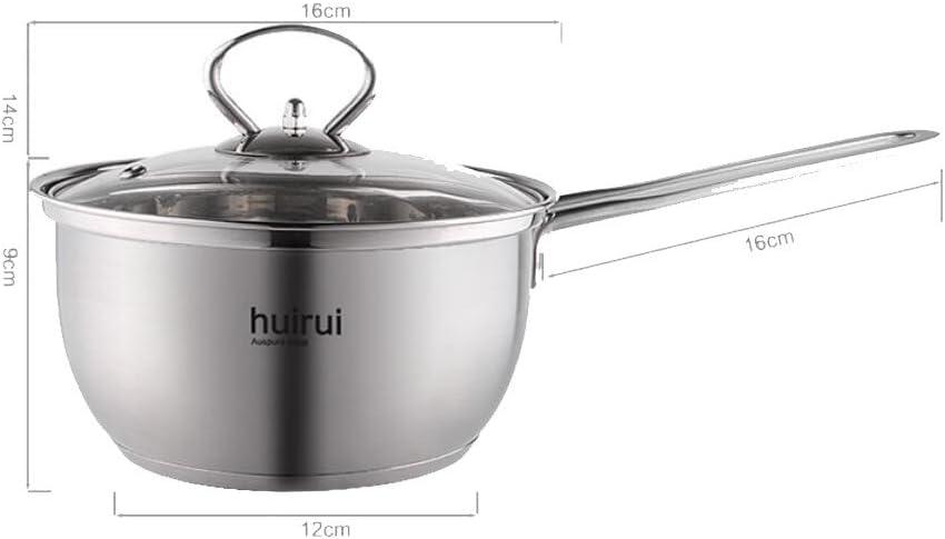 WSAD La Soupe Chaude en Acier Inoxydable Lait Lait Pot Pot,Le Lait Pot,16Cm Le Lait Pot