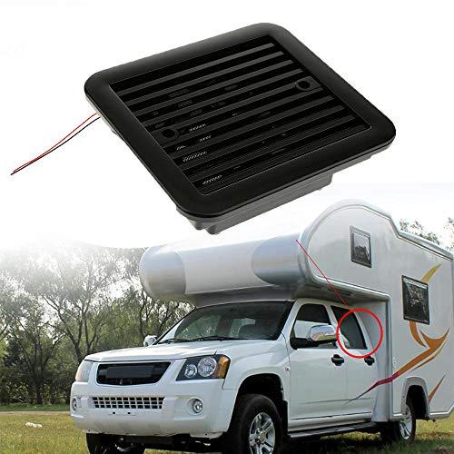 Maso Seitenauspuffventilator, Einwegeventilator, 12 V, staubdicht, starker Windkühler für Auto, Wohnmobil, Wohnmobil, Van (schwarz)