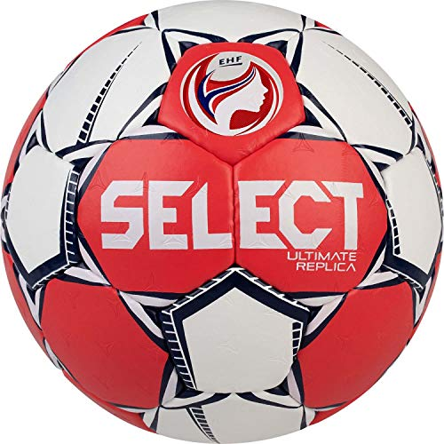 Select Unisex– Erwachsene Ultimate Replica EC 2020 Handball, rot Weiss, 1