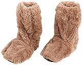 infactory Wärmesocken: Aufwärmbare Flausch-Stiefel mit Leinsamen-Füllung, Größe 39-41 (Wärmende Socken)