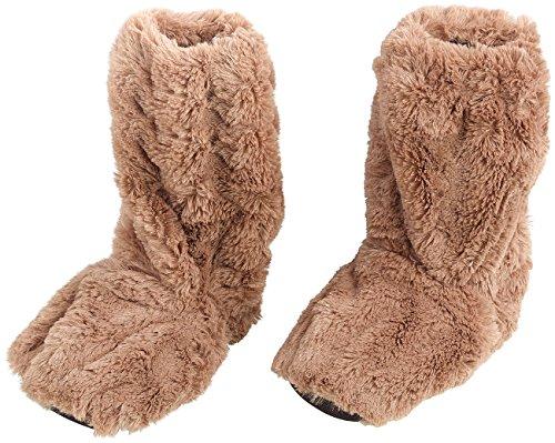 infactory Wärmesocken: Aufwärmbare Flausch-Stiefel mit Leinsamen-Füllung, Größe 39-41 (Hot Socks)