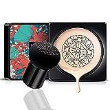 CC crema corrector base duradera hidratación brillo color Reparación maquillaje base, CC crema hidratante impermeable base líquida (tipo hongo) puff)